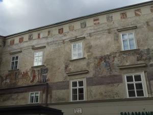Medieval mural in Krems center