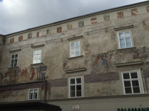 Medieval mural in Krems center