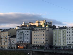 Fortress Hohensalzburg crowns the city