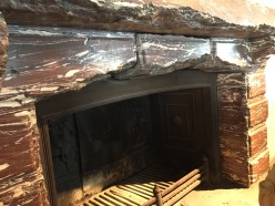 Damaged Marble Fireplace