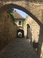 An original 14th century walkway to the Danube inside the Durnstein walls