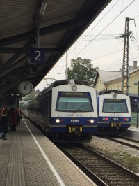 The train arrived to take me to the Vienna Airport