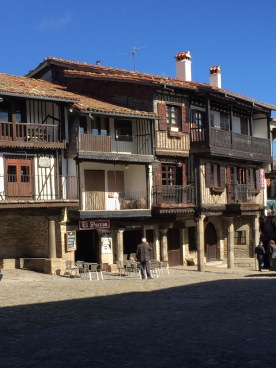 Buildings at the La Alberca Town Square